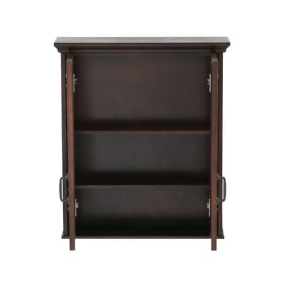 W Bathroom Storage Wall Cabinet In Mahogany Asgw2327 The Home Depot