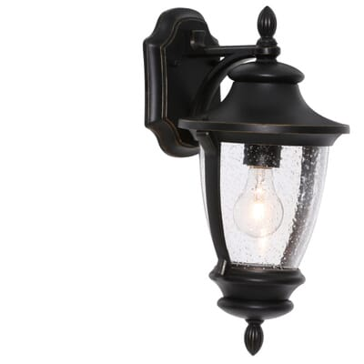 home decorators collection wilkerson 1 light black outdoor wall mount 23452 the home depot - Home Decorators Collection Lighting