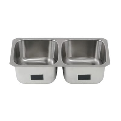 Kohler Ballad Undermount Stainless Steel 32 In 50 50 Double Basin Kitchen Sink K Rh20062 Na The Home Depot