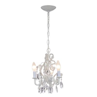 Mini white chandelier thejots hampton bay light white mini chandelier the home depot lighting ideas aloadofball Gallery