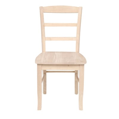 International Concepts Unfinished Madrid Ladderback Dining Chairs  Set of  2  C 2P   The Home Depot. International Concepts Unfinished Madrid Ladderback Dining Chairs