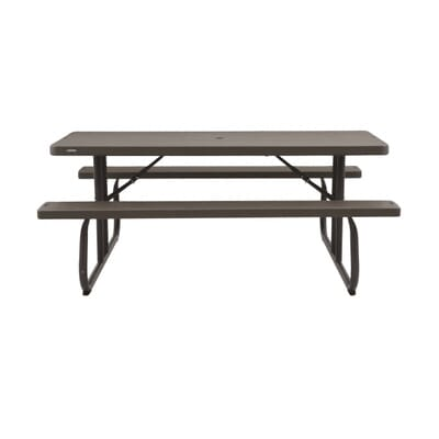 . Lifetime Wood Grain Folding Picnic Table 60105   The Home Depot