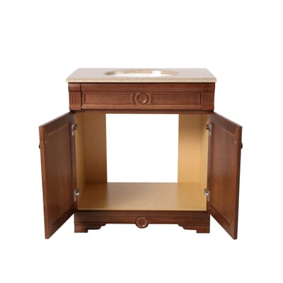 home decorators collection 305 in bradford vanity in cognac with solid surface vanity top in cappuccino ppmedaco30 the home depot - Home Decorators Store