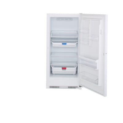 Frigidaire  Cu Ft Frost Free Upright Freezer In White - Small freezers at home depot