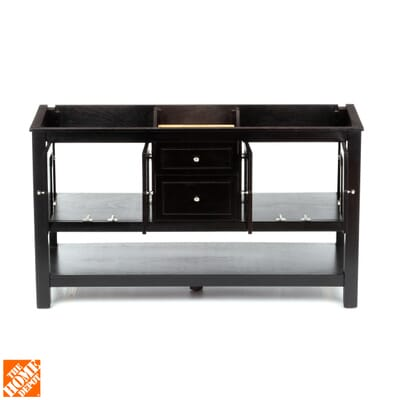Home Decorators Collection Gazette 60 In Vanity Cabinet Only In Espresso With Double Bowl Design Gaea6022d The Home Depot