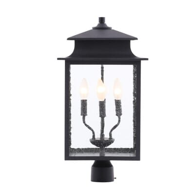 World Imports Sutton Collection 4 Light Rust Outdoor Post Lantern WI910942