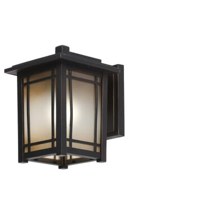 home decorators collection port oxford 1 light oil rubbed chestnut outdoor wall mount lantern 23113 the home depot - Home Decorators Collection Lighting