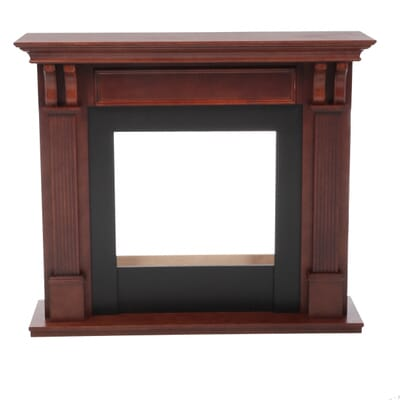 Gel Fuel Fireplace in Mahogany-7100-M - The Home Depot - Real Flame Ashley 48 In. Gel Fuel Fireplace In Mahogany-7100-M