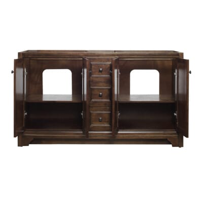 home decorators collection creedmoor 60 in w x 34 in h vanity cabinet only in walnut cdnv6021d the home depot - Home Decorators Vanity