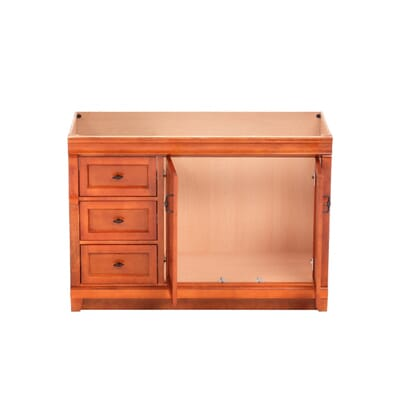 Foremost Naples 48 in  W x 21 5 8 in  D x 34 in  H Vanity Cabinet Only in  Warm Cinnamon NACA4821DL   The Home Depot. Foremost Naples 48 in  W x 21 5 8 in  D x 34 in  H Vanity Cabinet
