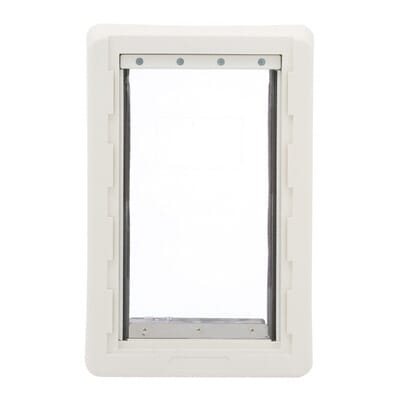 medium ruff weather frame door with dual flaps rwm the home depot