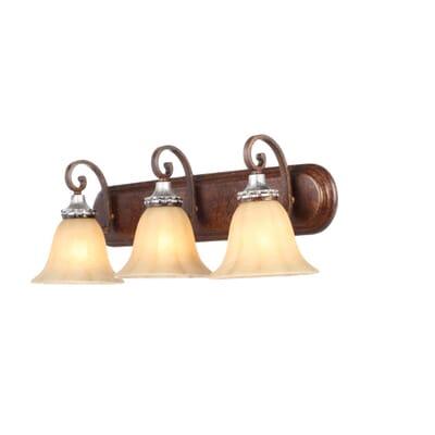 Hampton Bay 3 Light Oxide Brass With Mystique Silver Bath Light Hb2078 229 The Home Depot
