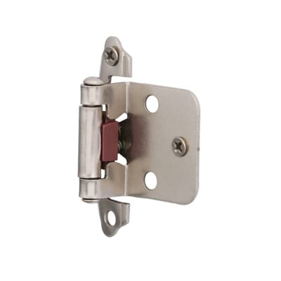 Hickory Hardware Surface Mounted Satin Nickel Self Closing Overlay Hinge   20 Pack  VP244 SN   The Home Depot. Hickory Hardware Surface Mounted Satin Nickel Self Closing Overlay