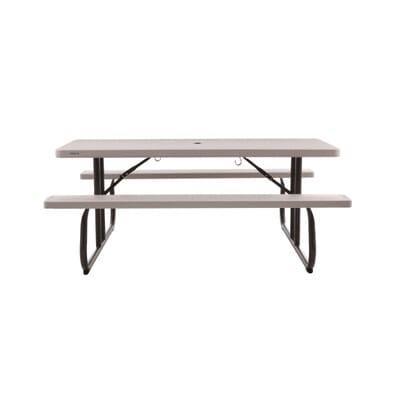 Folding Picnic Table with Benches 22119   The Home Depot. Lifetime 6 ft  Folding Picnic Table with Benches 22119   The Home