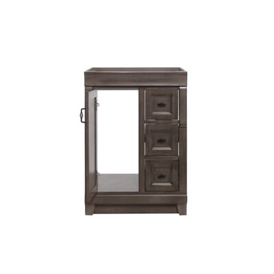 home decorators collection naples 24 in w vanity cabinet only in distressed grey nadga2421d the home depot - Home Decorators Vanity