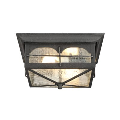 home decorators collection brimfield 2 light aged iron outdoor flushmount light hb7045a 292 the home depot - Home Decorators Collection Lighting