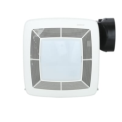 Broan Qtx Series Very Quiet 80 Cfm Ceiling Exhaust Bath Fan With Light Energy Star Qualified Qtxe080flt The Home Depot