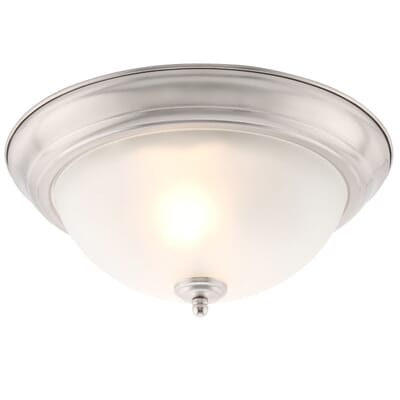 Commercial Electric 2 Light Brushed Nickel Flushmount  2 Pack EFG8012A BN    The Home DepotCommercial Electric 2 Light Brushed Nickel Flushmount  2 Pack  . Home Depot Ceiling Lighting. Home Design Ideas