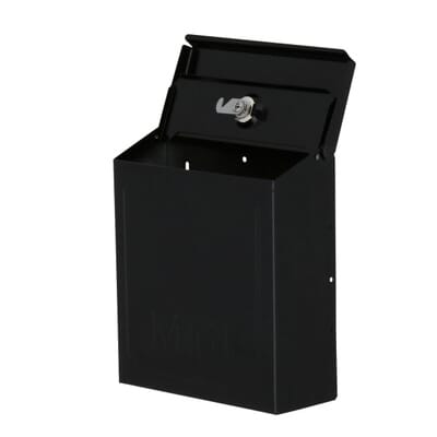 Gibraltar Mailboxes Townhouse Steel Vertical Wall-Mount Locking Mailbox,  Black-THVKB001 - The Home Depot - Gibraltar Mailboxes Townhouse Steel Vertical Wall-Mount Locking
