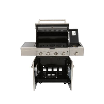 KitchenAid 4-Burner Propane Gas Grill in Stainless Steel with Side ...