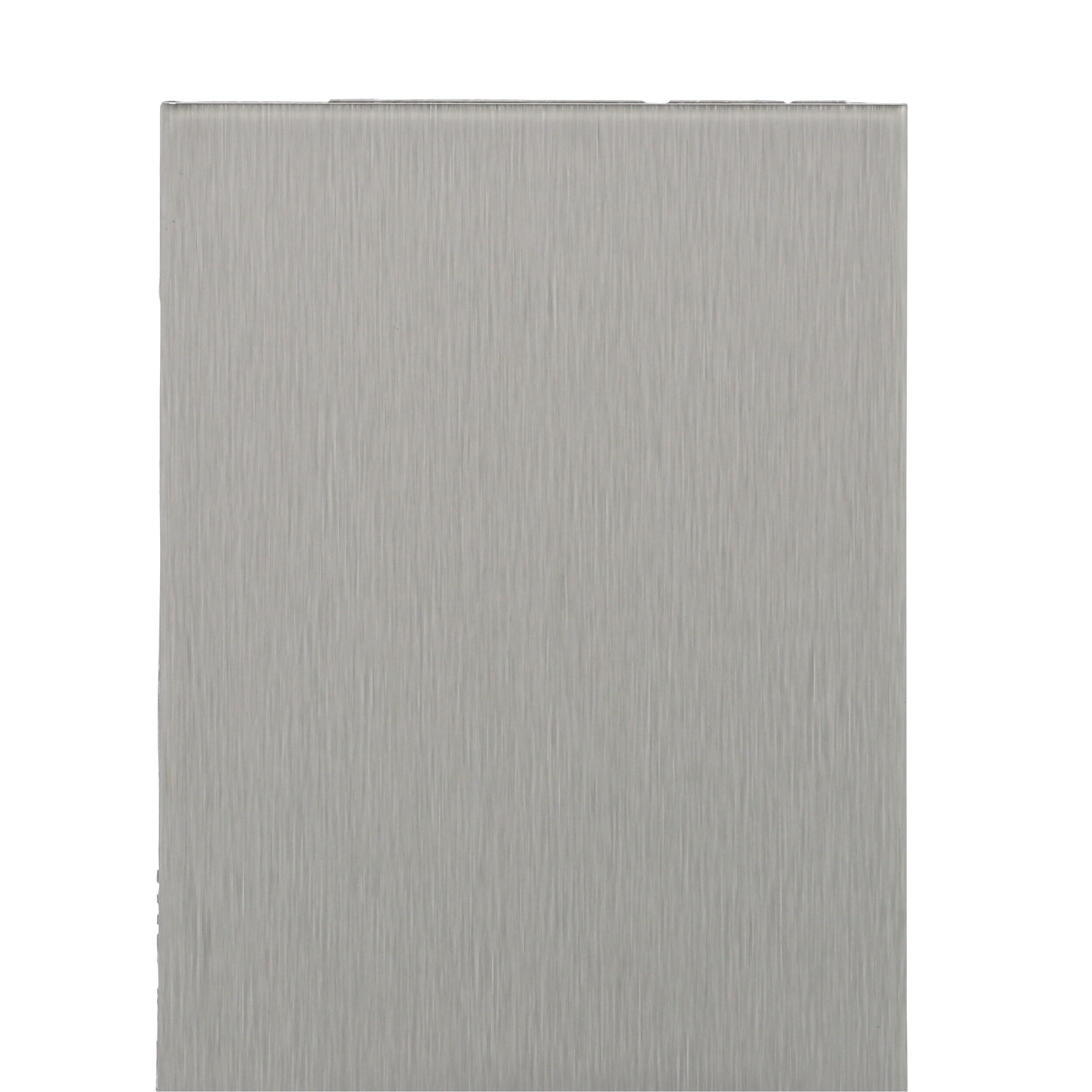 Aspect Long Grain 3 in. x 6 in. Metal Decorative Tile Backsplash in Brushed  Stainless (8-Pack)-A52-50 - The Home Depot