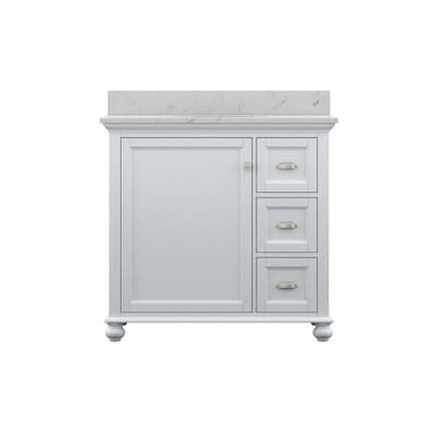 home decorators collection lamport 37 in vanity in white with marble vanity top in white lmwvt3622d the home depot - Home Decorators Vanity