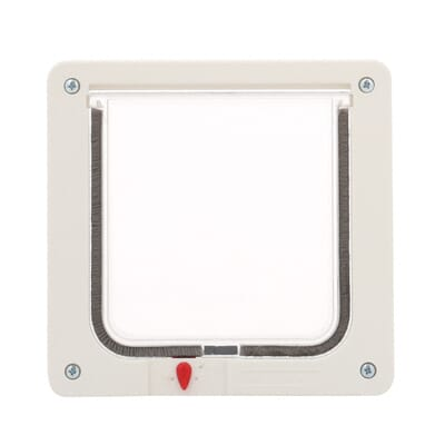 small cat flap cat door with plastic frame and rigid flap spf the home depot