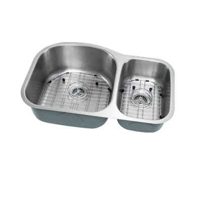 ipt sink company undermount 32 in 16 gauge stainless steel kitchen sink in brushed stainless iptlx7030 the home depot - Brushed Steel Kitchen Sinks