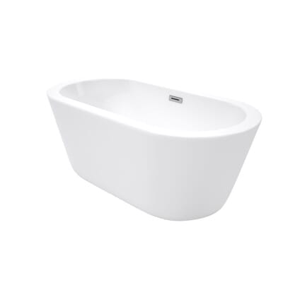 Center Drain Soaking Tub in White WCOBT100360   The Home Depot. Wyndham Collection Mermaid 5 ft  Center Drain Soaking Tub in White