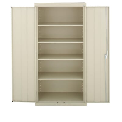 Sandusky Classic Series 72 in. H x 36 in.W x 18 in. D Steel Freestanding  Storage Cabinet with Adjustable Shelves in Putty-CA41361872-07 - The Home  Depot - Sandusky Classic Series 72 In. H X 36 In.W X 18 In. D Steel