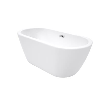 Center Drain Soaking Tub in White WCOBT100260   The Home Depot. Wyndham Collection Soho 5 ft  Center Drain Soaking Tub in White
