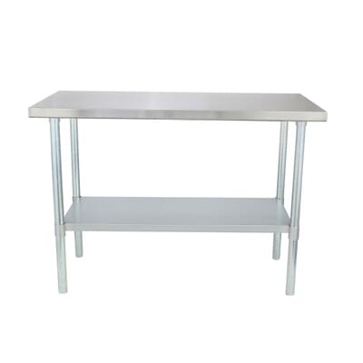 sportsman stainless steel kitchen utility table sswtable the home depot - Kitchen Steel Table