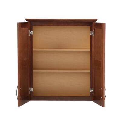 Glacier Bay Casual 25 1 2 In W X 29 In H X 7 1 2 In D Bathroom Storage Wall Cabinet In Cognac Ttcy Aco The Home Depot
