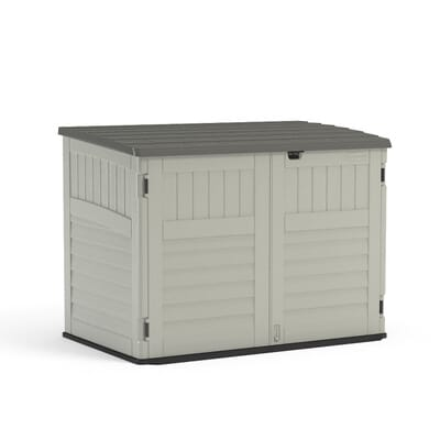 Suncast Stow Away 3 Ft 8 In X 5 11 Resin Horizontal Storage Shed Bms4700 The Home Depot