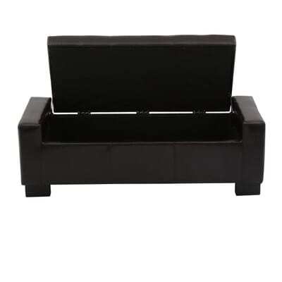 Home Decorators Collection Classic Storage Ottoman In Dark Brown Cnf1560 The Home Depot