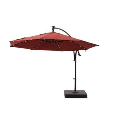 LED Round Offset Patio Umbrella in Red-YJAF052 - The Home Depot - 11 Ft. LED Round Offset Patio Umbrella In Red-YJAF052 - The Home Depot