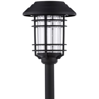 Hampton Bay Black Solar Led Pathway Outdoor Light 6 Pack Nxt 74052 The Home Depot