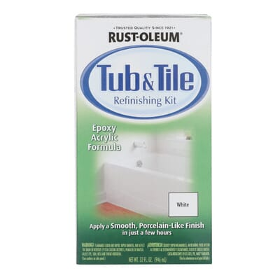 White Tub and Tile Refinishing Kit 7860519   The Home Depot. Rust Oleum Specialty 1 qt  White Tub and Tile Refinishing Kit