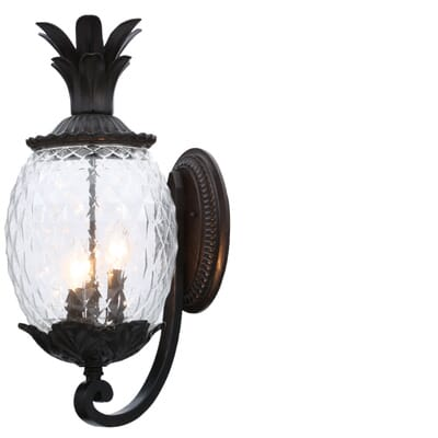 Acclaim Lighting Lanai Collection 3 Light Black Coral Outdoor Wall Mount Light Fixture 7511bc The Home Depot