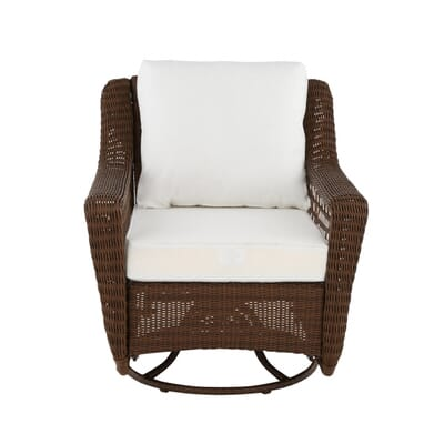 Hampton Bay Spring Haven Grey Wicker Patio Swivel Rocker Chair With Cushion Inse For In Little Elm Tx 5miles And