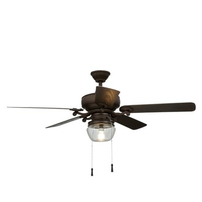 Home Decorators Collection Bromley 52 In Led Indoor Outdoor Bronze Ceiling Fan 34346 The Home Depot