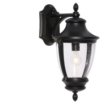home decorators collection wilkerson 1 light black outdoor wall mount 23453 the home depot - Home Decorators Collection Lighting