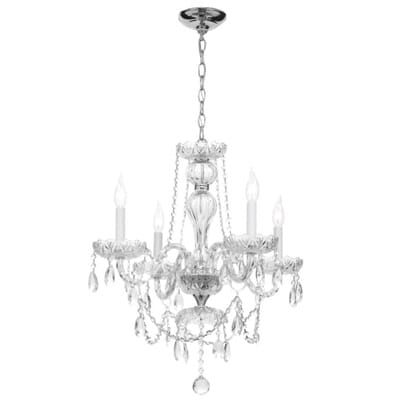 Hampton Bay Lake Point 4Light Chrome and Clear Crystal Chandelier – Hampton Bay Mini Chandelier