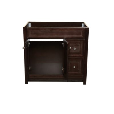 Home Decorators Collection Brinkhill 36 In Vanity Cabinet Only In Chocolate Bwsd3621 Ch The Home Depot