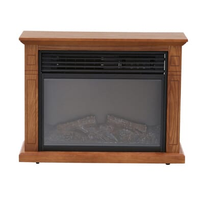 Hampton Bay Cedarstone  In Element Mantel Infrared Electric - Mantel electric fireplace