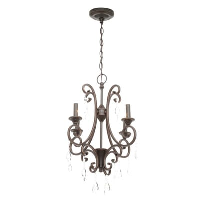 Hampton Bay 4Light Oil Rubbed Bronze Crystal Small Chandelier – Hampton Bay Mini Chandelier