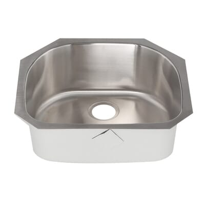 elkay signature plus undermount stainless steel 24 in 0 hole single bowl kitchen sink spuh2118 the home depot - Bowl Kitchen Sink