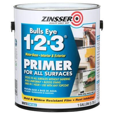 Zinsser Bulls Eye 1 2 3 Gal White Water Based Interior Exterior
