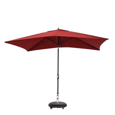 Aluminum Patio Umbrella in Chili with Push-Button Tilt-9106-01004011 - The Home  Depot - Hampton Bay 10 Ft. X 6 Ft. Aluminum Patio Umbrella In Chili With