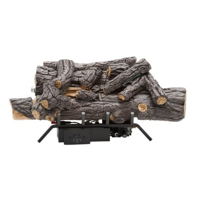 Emberglow Savannah Oak 18 in. Vent-Free Natural Gas Fireplace Logs with  Remote-SCVFR18N - The Home Depot - Emberglow Savannah Oak 18 In. Vent-Free Natural Gas Fireplace Logs